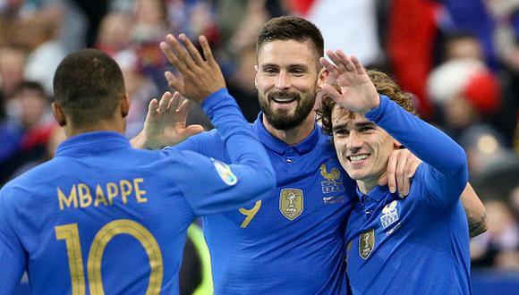 Mbappé y Giroud fueron campeones del mundo en Rusia 2018. (Getty)