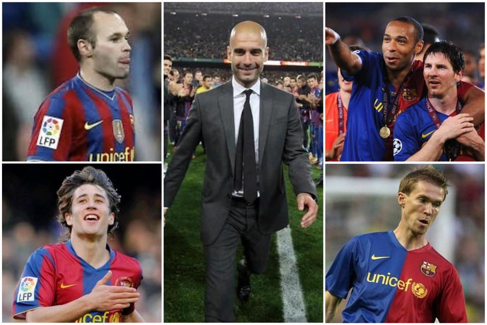 El presente de los jugadores del primer Barcelona de Guardiola.