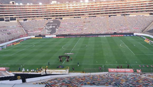 Estadio Monumental, previo al debut en Copa Libertadores 2021. (Foto: José Marín / GEC)