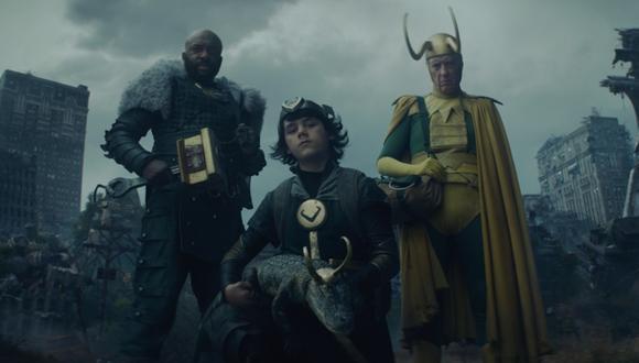 Los tres nuevos Lokis de la serie. Foto: Disney+.