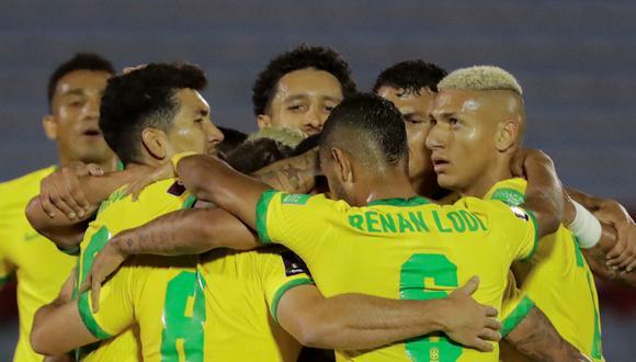 Brasil vence 2-0 a Uruguay en el primer tiempo. Los  goles lo hicieron Arturo y Richarlison. Mira aquí todos los goles del partido de hoy. (Foto: AFP)