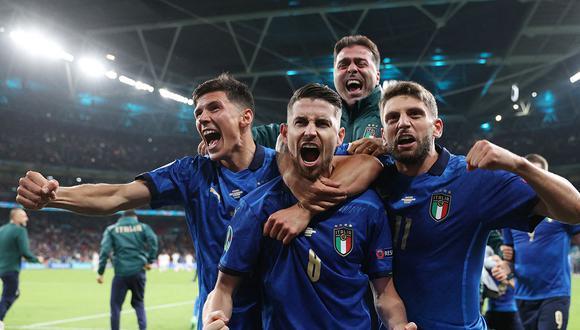 Italia logró la clasificación a la final de la Eurocopa 2020 y jugará ante el ganador entre Inglaterra-Dinamarca el próximo domingo en Wembley. (Foto: AFP)