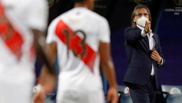 Ricardo Gareca valoró una nueva clasificación de la selección peruana a las semifinales de la Copa América. (Foto: EFE)
