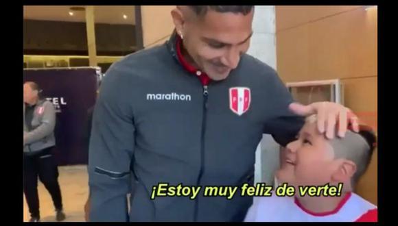 Selección Peruana | Paolo Guerrero cumplió sueño de un niño hincha en la Copa América (Captura)