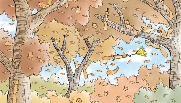 En la imagen deberás hallar las ardillas en este bosque que nos muestra un enorme árbol. Recuerda que el tiempo es muy limitado.