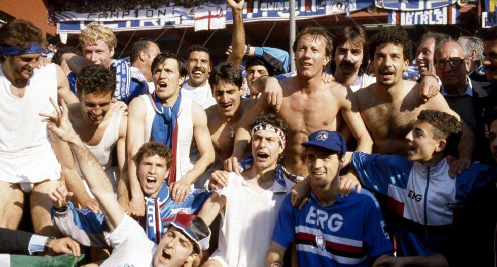 Sampdoria de la Serie A 1990/91. (Getty)
