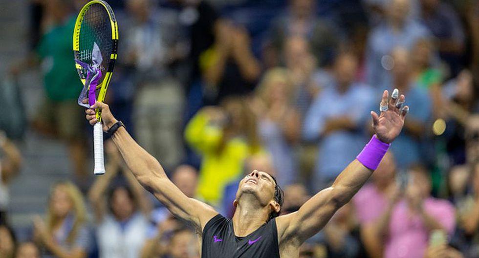 Rafael Nadal celebrando su victoria. (Foto: Getty Images)