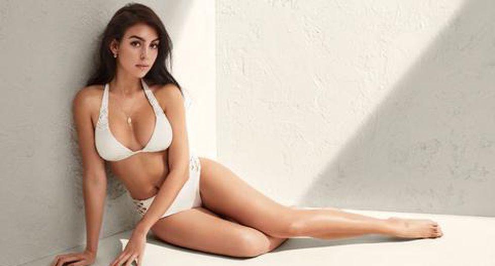 Georgina Rodríguez posando sexy en una de las últimas sesiones para su marca de ropa (Foto: Instagram)