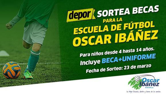Depor regala 20 becas para la escuela de fútbol de Óscar Ibáñez