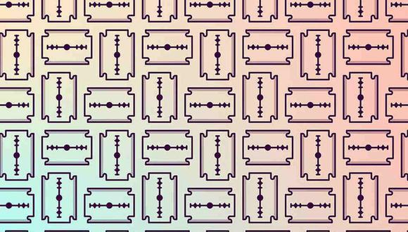 Tienes que ubicar las navajas de un solo filo en la imagen. (Foto: Noticieros Televisa)