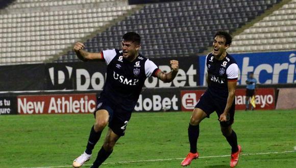 Carlos Monges marcó el gol del triunfo de la San Martín ante Cienciano. (Foto: Liga de Fútbol Profesional)
