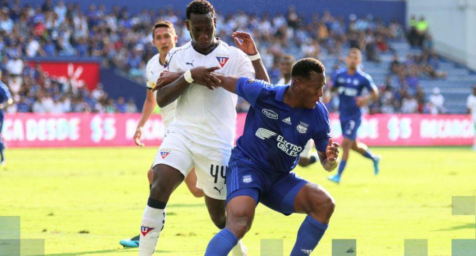 Emelec empató 1-1 ante Liga de Quito por la jornada 25 de la Liga Pro 2019. (Twitter)
