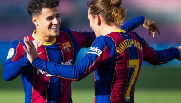 Griezmann y Coutinho marcaron en la goleada ante Osasuna (Foto: FC Barcelona)