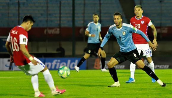 Suárez anotó el primero, Alexis empató, pero Maxi Gómez pudo marcar la diferencia sobre el final. (Twitter: Uruguay)