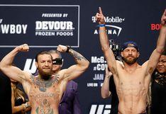 McGregor vs. Cerrone EN VIVO por ESPN 2 y FOX Action: chocan en el combate estelar del UFC 246 en la división wélter