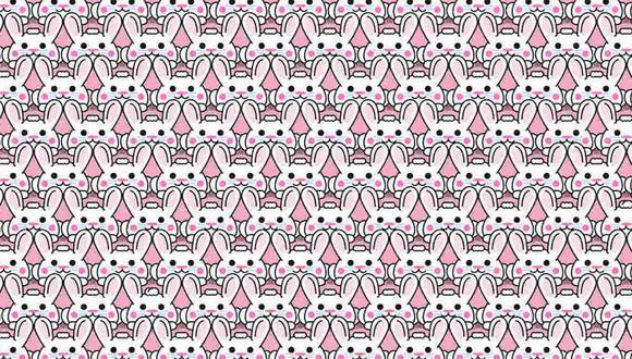 El reto viral del momento: encuentra los 4 conejos con peinado distinto en la imagen. (Foto: Noticieros Televisa)