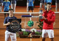 ¡Imparable! Novak Djokovic sumó nuevo récord tras ganar el Masters 1000 de Roma
