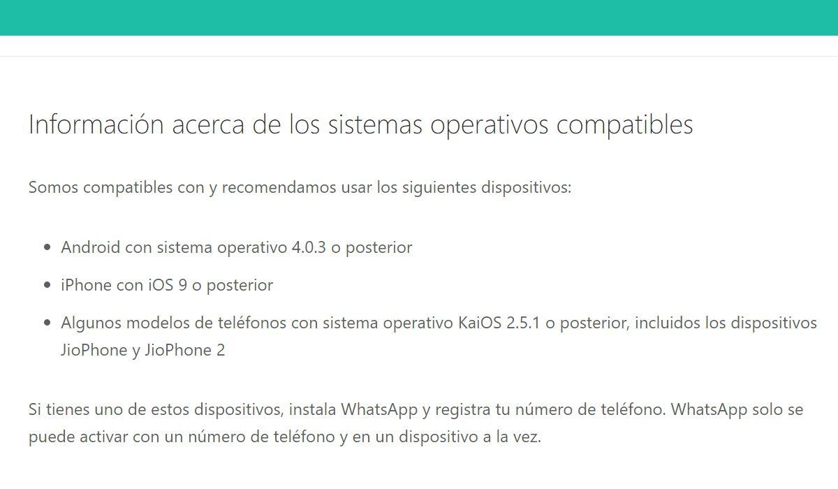 ¿Tu celular ya no tendrá WhatsApp? Compruébalo ahora mismo. (Foto: Captura)