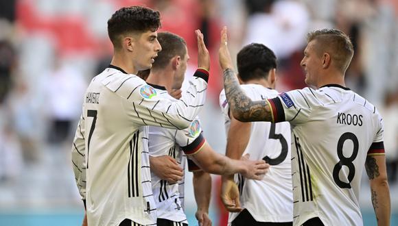 Alemania consiguió su primer triunfo en el Grupo F de la Eurocopa 2021. (Foto: AP)