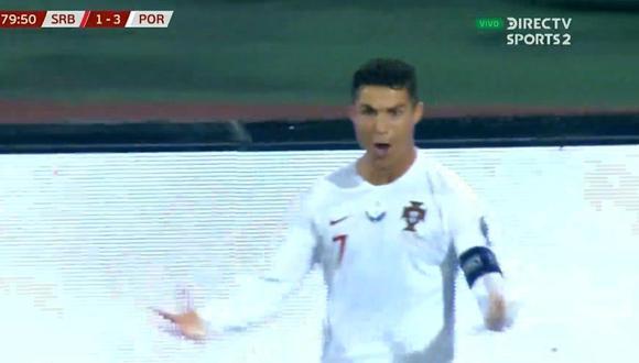 Cristiano Ronaldo anota el 3-1 del Portugal-Serbia por Eliminatorias Euro 2020