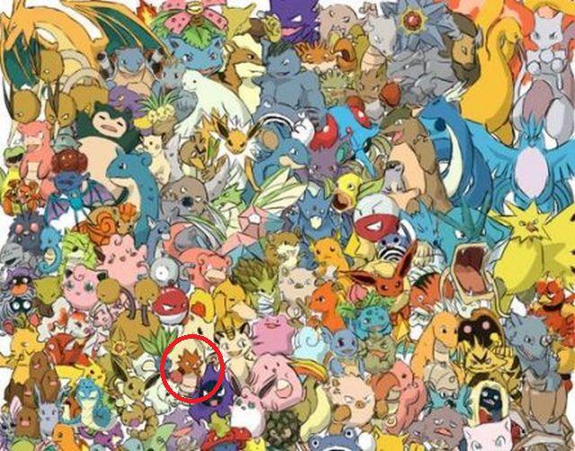 Aquí se halla el Spearow entre los Pokémones de este reto visual. (Difusión)