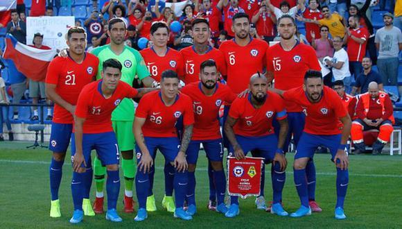 Chile y sus convocados para jugar contra Perú. (Foto: Agencias)