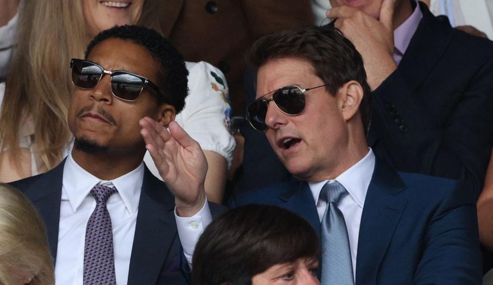 Tom Cruise estuvo presente junto a su esposa Hayley Atwell en Wimbledon y luego en la final de la Eurocopa. (Foto: AFP)