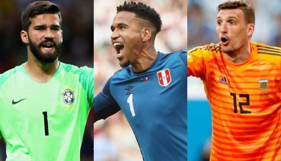El valor en el mercado de los arqueros que participarán en la Copa América Brasil 2019 (Foto: Agencias)