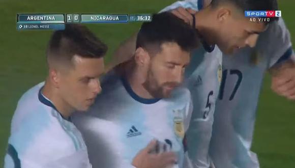 Argentina vs. Nicaragua: GOL Messi para el 1-0 en San Juan por Amistoso Internacional. (SportTV)