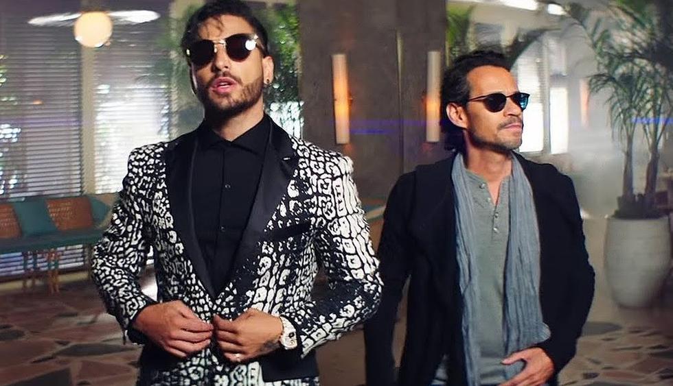 Maluma y Marc Anthony tuvieron emotivo reencuentro en Colombia. (Foto: Instagram)
