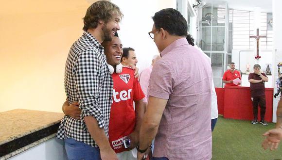 Cueva, quien acaba de renovar con el Al-Fateh saudí, llegó en junio 2016 a Sao Paulo y se fue a mediados de 2018, peleado con la dirigencia del club paulista. (Foto: Sao Paulo)