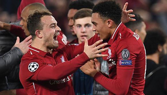 Alexander-Arnold dio la asistencia para el gol de Origi, el 4-0 final. (Foto: AFP)