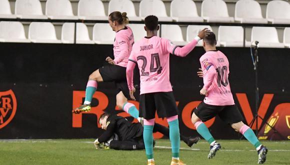 Barcelona vs. Rayo Vallecano por la Copa del Rey (Foto: Agencias)