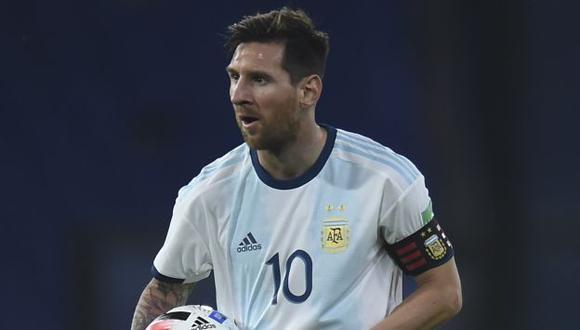 Lionel Messi marcó su gol 22 con camiseta de la selección de Argentina. (Foto: AFP)
