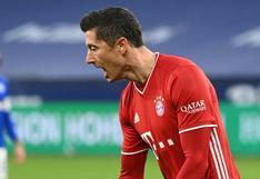 Robert Lewandowski ya tiene 500 goles oficiales tras marcar en el Bayern Munich-Schalke 04 [VIDEO]