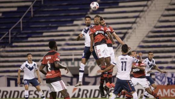 Flamengo derrotó por 3-2 a Vélez en la Copa Libertadores 2021. (Foto: Twitter)