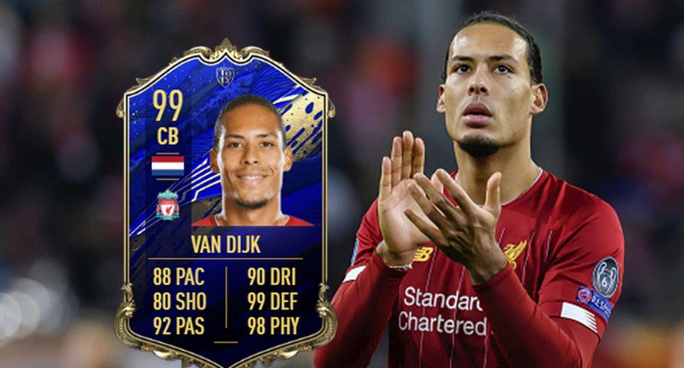 FIFA 20: ¡Virgil van Dijk el mejor defensa! Los TOTY revelan sus últimas cartas. (Foto: gettyimages)