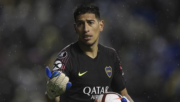 Esteban Andrada destacó en la portería de Boca Juniors durante su etapa en el fútbol argentino (Foto: AFP).