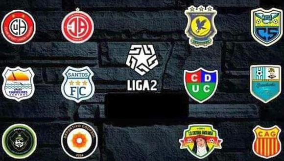 Tabla de posiciones de la Liga 2. (Foto: Facebook)