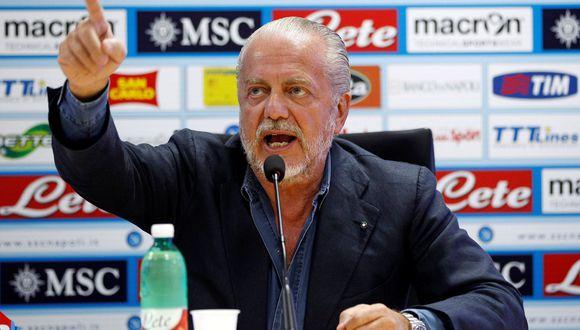 Aurelio De Laurentiis se mostró disconforme con la decisión de jugar en Barcelona el duelo de vuelta por Champions League. (Foto: Reuters)