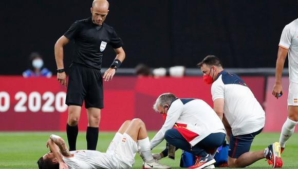 Dani Ceballos sufrió un duro pisotón en el España vs. Egipto. (Foto: AFP)