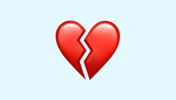 ¿Sabes qué significa realmente el emoji del corazón roto en WhatsApp? Sal de dudas. (Foto: Emojipedia)