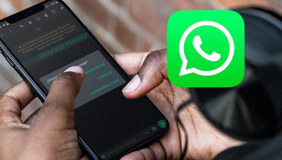 """Conoce el método para poder tener de vuelta el """"eliminar para todos"""" en WhatsApp. (Foto: Mockup)"""