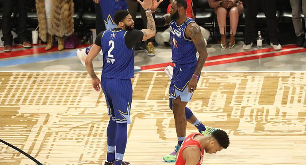 'La Ceja' Davis y LeBron James se lucieron en el All Star Game 2020. (Foto: Getty Images)