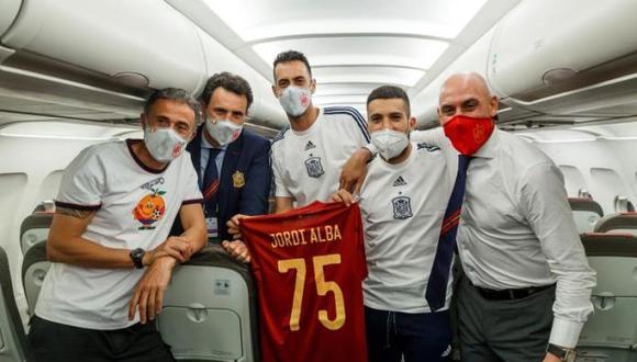 Jordi Alba cumplió 75 partido con España ante Eslovaquia por la Eurocopa. (Foto: RFEF)