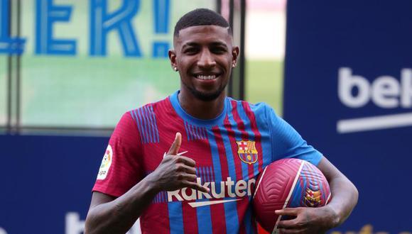 Emerson Royal fue presentado como nuevo jugador del FC Barcelona. (Foto: MD)