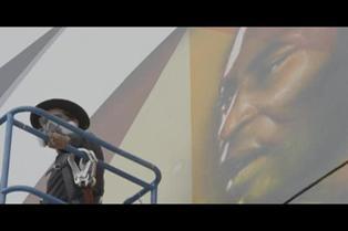 Kobra rinde tributo al legendario Pelé con un inmenso mural por sus 80 años