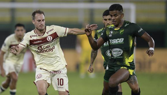 Defensa y Justicia goleó a Universitario de Deportes y ya sumó cuatro puntos en el grupo A (Foto: AFP)
