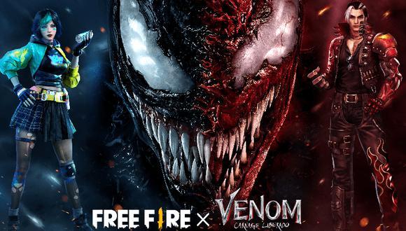 Free Fire: Venom podría aparecer en Bermuda según avance de la colaboración con Marvel