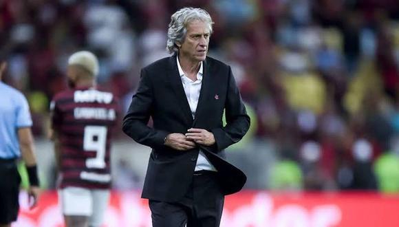 El mensaje de la Copa Libertadores a Jorge Jesus, después de dar positivo por COVID-19. (Foto: AFP)